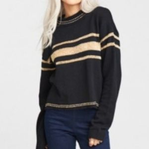 Show me your Mumu black gold cropped sweater Small
